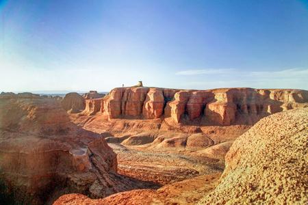 Xinjiang Karamay Urho Devil City in China Standard-Bild - 82147767