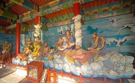 Eight Immortals Temple, Penglai City, Shandong Province, China Editöryel