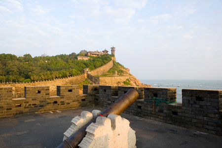 Shandong Provinz Penglai Pavillon von China Standard-Bild - 82498605