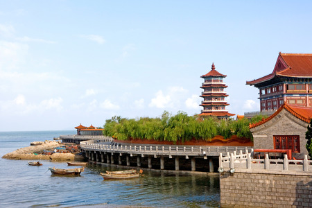 Shandong province Penglai Pavilion of China landscape scenery view