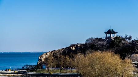 Shandong Provinz Penglai Pavillon von China Landschaft Landschaft Blick Standard-Bild - 82498652