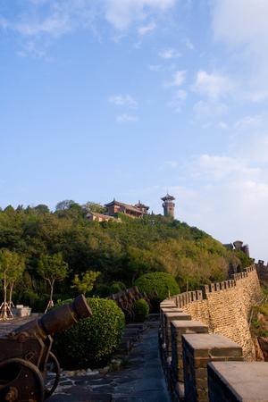 Shandong Provinz Penglai Pavillon von China Standard-Bild - 82498609