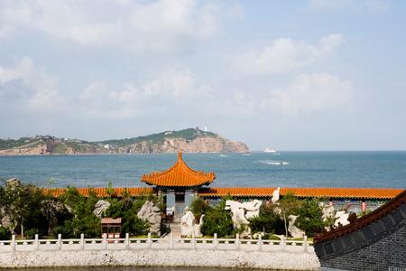 Shandong Provinz Penglai Pavillon von China Landschaft Landschaft Blick Standard-Bild - 82498655