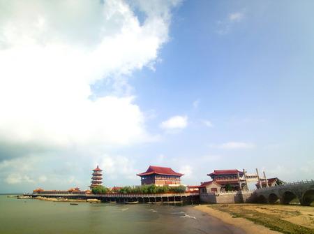 Shandong Provinz Penglai Pavillon von China Standard-Bild - 82498617