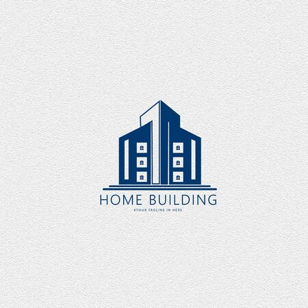 Graphic illustration with a grand building concept inspired by the development of large housing and can be used for housing and developer themed logos.