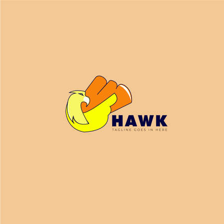 Graphic illustrations with the concept of a yellow eagle that is flying with a tail that expands the concept of this logo can be use for Food Beverages company design. 向量圖像