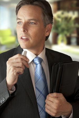 audio: Businessman Makes An Audio Note