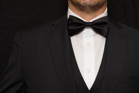 Close-up of a gentleman wearing Black Tie. Standard-Bild