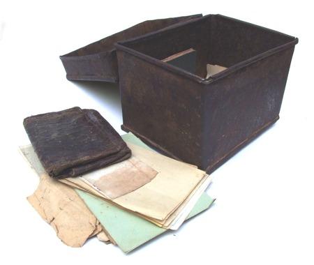 deeds: old documents Stock Photo