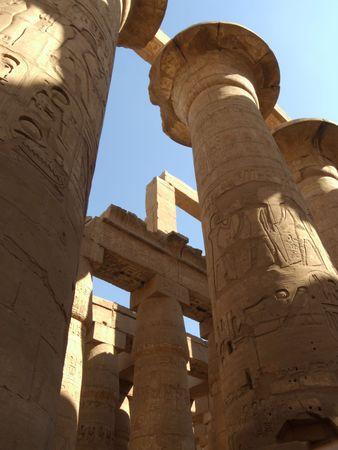 columnar: Luxor. columnar hall in Karnak temple