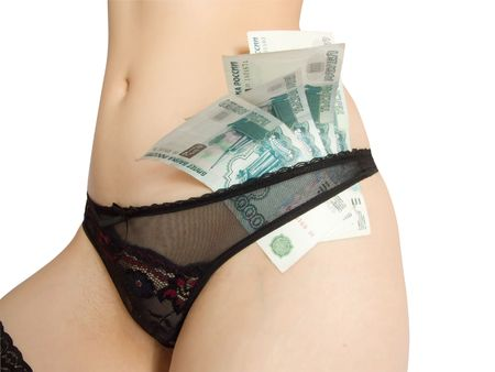Money and woman Stock Photo - 2871400