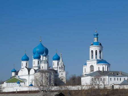 bogolyubovo: Old orthodoxy temple is in Bogolyubovo from Russia Stock Photo