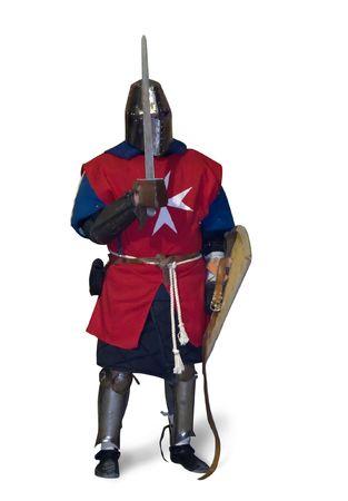 XV 시대의 갑옷 끝에있는 나이트