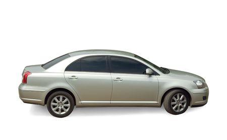 sportscar: silver new sportscar on white. Isolated