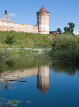 Saviour-Euthimiev monastery-fortress in Suzdal (Russia) in summer photo