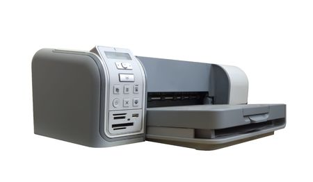inkjet:  ink-jet printer A4. Isolated on white with clipping path