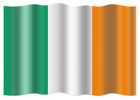 eire: Ireland national flag. Illustration on white background