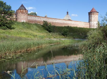 Saviour-Euthimiev monastery-fortress at Suzdal in summer photo