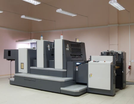 The offset two section printed machine