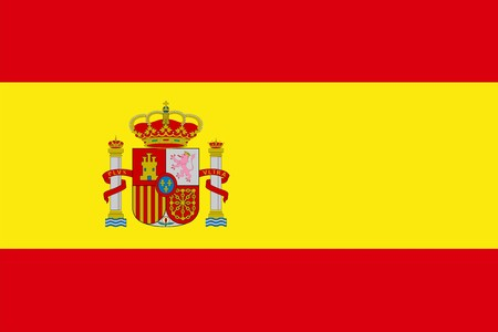 Spain national flag. Illustration on white background illustration