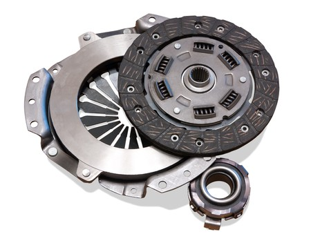 interlock: automobile clutch. Isolated on white with path Stock Photo