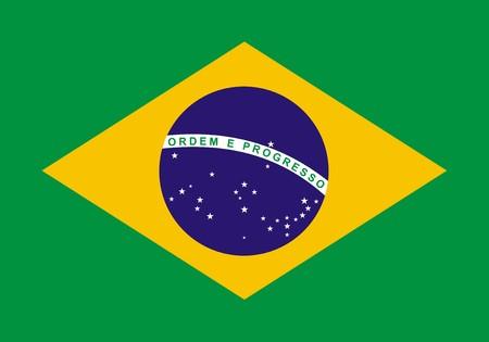 br: Flag of Brazil. Illustration over white background Stock Photo