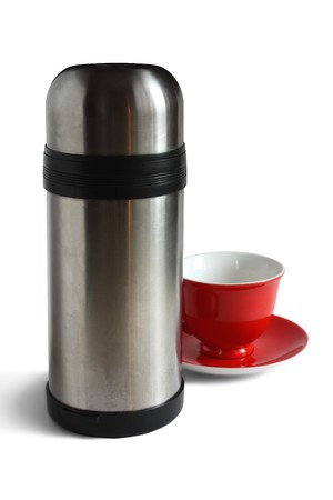 Tea cap and thermos. photo