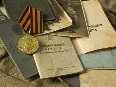 seconda guerra mondiale: Old esercito borsa e antiquariato esercito documenti