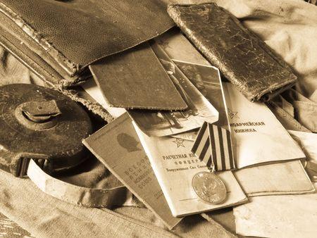 foto carnet: Antiguo ej�rcito de la bolsa y antig�edades ej�rcito documentos