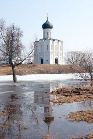 Church of the Intercession on the River Nerl. Inscribed in the Wold Heritage List of UNESCO. photo