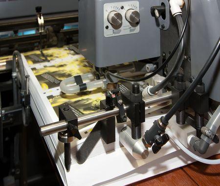 pallet of newspaper  at offset printed machine