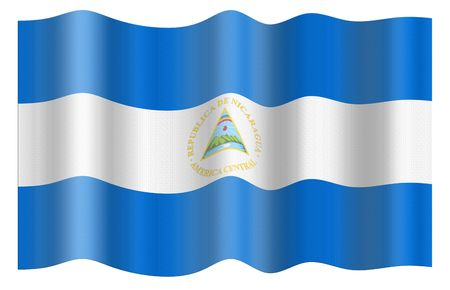 Flag of Nicaragua. Illustration over white background illustration