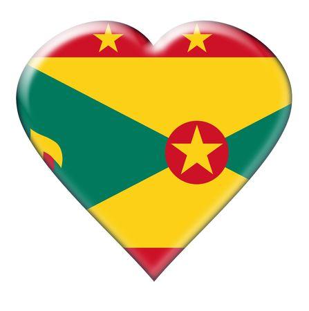 grenada: Icon of Grenada. Illustration over white background