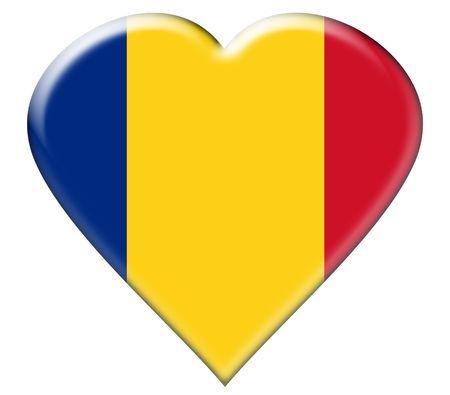 rumania: Icon of Rumania national flag. Illustration on white background