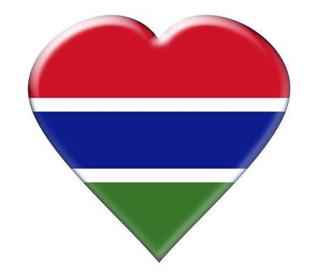 Icon of Gambia. Illustration over white background illustration