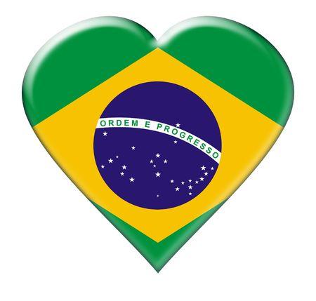br: Icon of Brazil. Illustration over white background Stock Photo