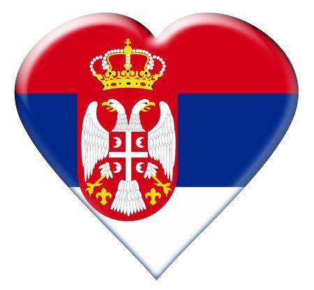 Icon of Serbia national flag. Illustration on white background Stock Illustration - 4944004