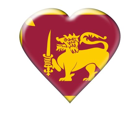 lanka: Icon of Flag of Sri Lanka. Illustration over white background