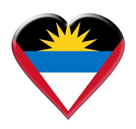 antigua: Icon of Antigua and Barbuda. Illustration over white background Stock Photo