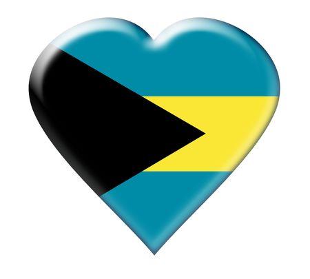 Icon of Bahamas. Illustration over white background Stock fotó