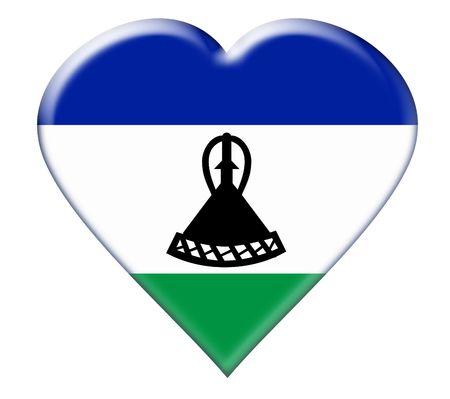 lesotho: Icon of Lesotho. Illustration over white background Stock Photo