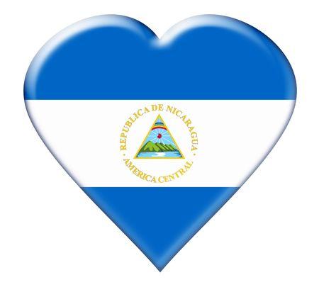 Icon of Nicaragua. Illustration over white background illustration