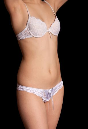 female torso in undies. Isolated on black background Stock Photo - 5000938