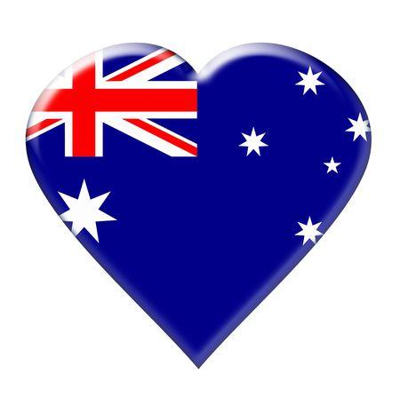 Icon of Australia. Illustration over white background illustration