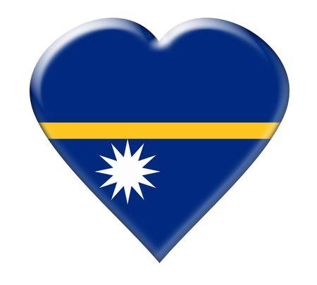 Icon of Nauru. Illustration over white background illustration