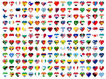 Icons of all  flags. Illustration over white background Stock Illustration - 5084478