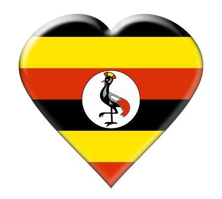 uganda: Icon of Uganda. Illustration over white background