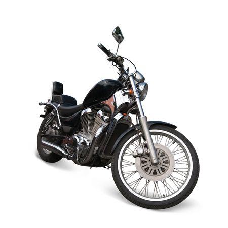 Big black  motorcycle.