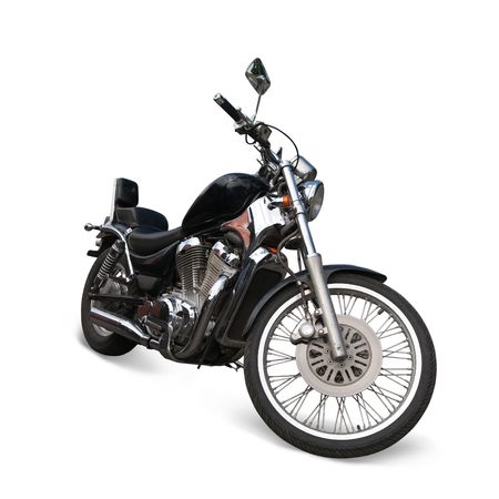 Big black  motorcycle. photo