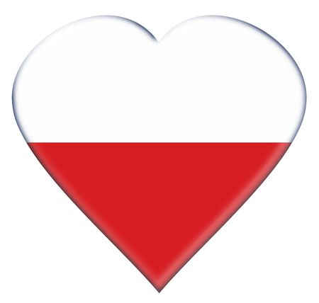 Icon of Poland national flag. Illustration on white background illustration